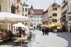 Touristic Rattenberg in Tyrol, Austria Stock Image