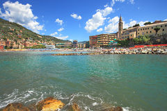 Touristic resort on Mediterranean sea in Italy. Royalty Free Stock Image