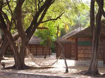 Touristic resort in Senegal. In Djiffer village, on Senegal. West Africa. 2013 Royalty Free Stock Photography