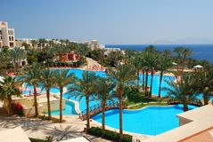 Touristic resort. Sharm El Sheikh. Red sea, Egypt Royalty Free Stock Images