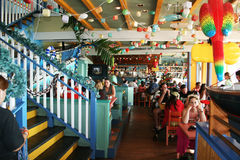 Touristic restaurant. A typical touristic caribbean restaurant at georgetown at grand cayman.january 2008 Royalty Free Stock Photo