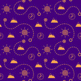 Touristic seamless pattern Royalty Free Stock Photography