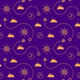 Touristic seamless pattern Royalty Free Stock Photography