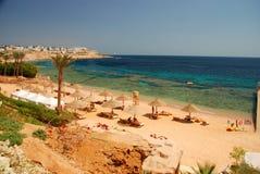 touristic semesterort Sharm El Sheikh Rött hav, Egypten arkivbild
