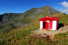 Touristic shelter on highest mountain of Romania Royalty Free Stock Photography