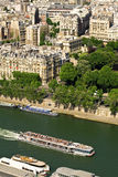 Touristic ship on Seine river, Paris Royalty Free Stock Image