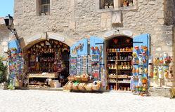 Touristic shop in Les Baux-de-Provence Royalty Free Stock Photo