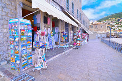 Touristic shops with souvenirs at Hydra island Greece Stock Image