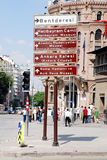 Touristic signs of Ankara. Touristic districts of Ankara, Turkey Stock Images