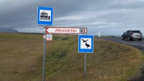 Touristic signs Iceland royalty free stock photos