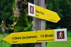 Touristic signs in Slovenia Royalty Free Stock Images