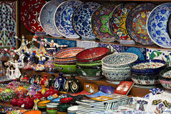 Touristic souveniers in The Spice Bazaar Royalty Free Stock Images