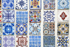 Touristic souvenirs reproducing portuguese tiles in Porto Royalty Free Stock Photos