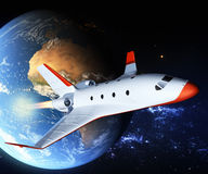 Touristic space shuttle Royalty Free Stock Image