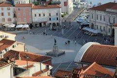 Touristic stad Fotografering för Bildbyråer