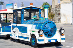 Touristic street bus train for sightseeing Royalty Free Stock Image