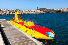 Touristic submarine at Tenerife - Canary Spain Royalty Free Stock Image
