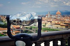 Touristic telescope, Florence, Italy Royalty Free Stock Images