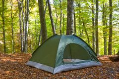 Touristic tent Stock Photography
