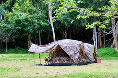 Touristic tent camping  in Thailand, National park Royalty Free Stock Image