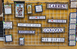 Touristic tiles in Spain Stock Photography