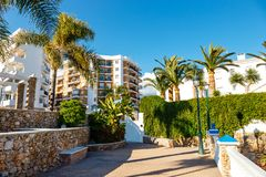 Touristic town Nerja, Andalusia, Spain. Touristic town Nerja in Costa del Sol, Andalusia, Spain royalty free stock images