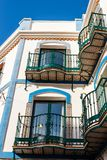 Touristic town Nerja in Costa del Sol. Andalusia, Spain royalty free stock photos