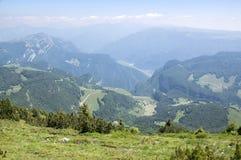 Touristic trail Alta Via del Monte Baldo, ridge way in Garda Mountains. Italy, aerial view Stock Photos