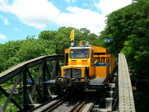 Touristic train on The Bridge on the River Kwai Stock Photography