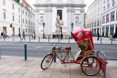 Touristic tricycle waits for the passengers Stock Images