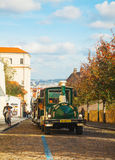 Touristic truck in Prague Royalty Free Stock Photography