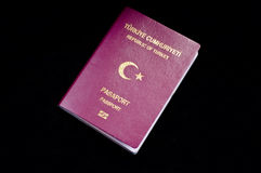 Touristic Turkish passport Stock Photos