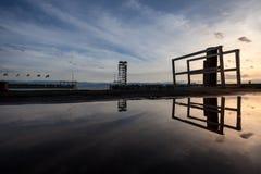 Touristic viewing tower at lake Royalty Free Stock Photo