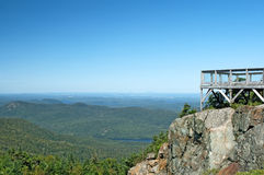 Touristic viewpoint on a mountain Royalty Free Stock Photos