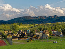 Touristic village scene. In Zakopane-Poland stock image