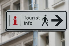 Touristinformations-Zeichen Stockbild