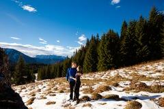 Touristis in Slovakian Belianske Tatry Stock Photography