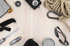 Touristische Ausrüstung Satz Einzelteile für Erholung und Tourismus Lizenzfreies Stockbild