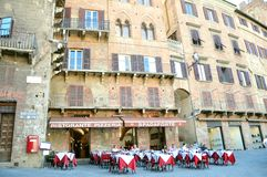 Touristische Gaststätte in Siena, Italien Stockfotos