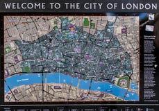 Touristische Karte der Stadt von London Stockfotos
