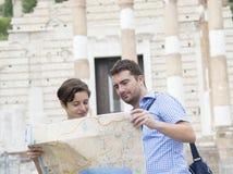 Touristische Karte Italien Stockfoto
