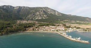Touristische Kleinstadt Akyaka, die Türkei stock footage