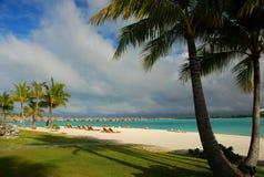 Touristische Rücksortierung Bora Bora, französische Polinesien Lizenzfreies Stockfoto