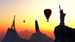touristische Reiseziele in der Welt lizenzfreie abbildung