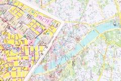 Touristische Stadtkarte lizenzfreie stockbilder