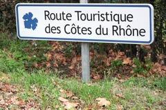 Touristische Straße von Côtes du Rhône in Frankreich stockfotos