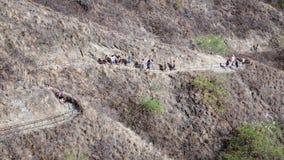 Touristische Wanderer Diamond Head Stockfotos