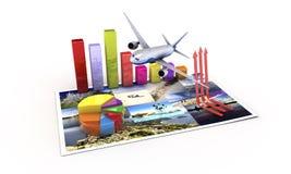 Touristische Wirtschaft Stockfotografie