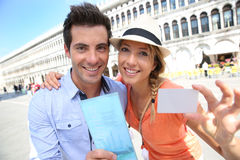 Touristischer Beleg für Venedig-Ausflug Stockbilder