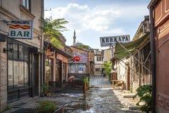Touristischer Bereich alte des Basars alte Stadtvon Skopje Macedonia Lizenzfreie Stockfotografie